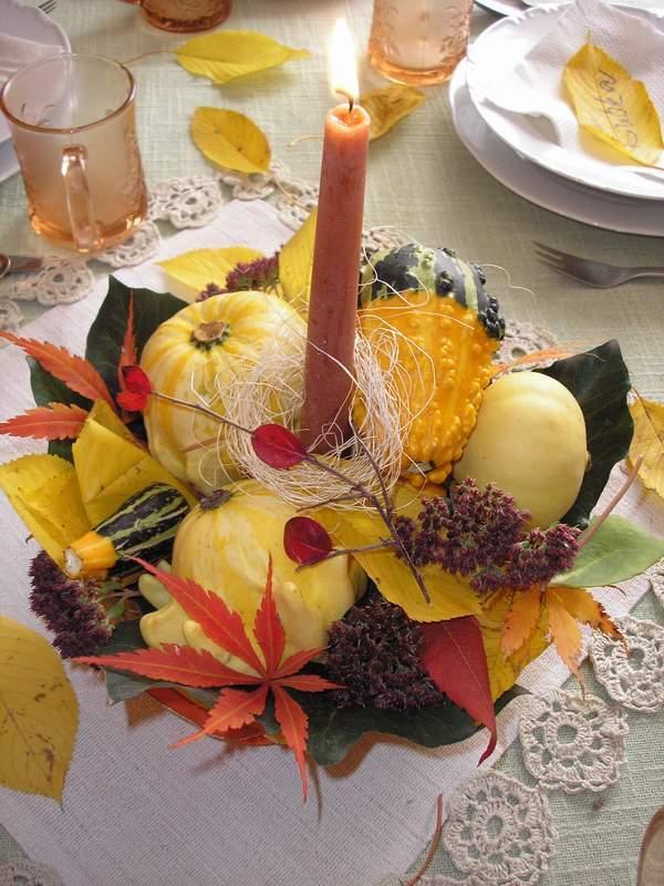 Jesenné aranžmá, Aranžovanie