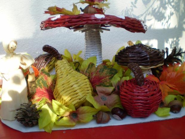Jesenná dekorácia, Papierové pletenie