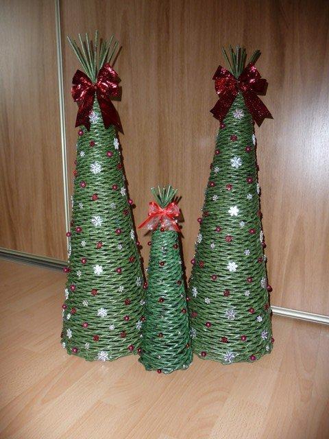 60 cm stromčeky, Papierové pletenie