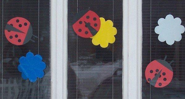 Berušky (lienky) na okna, Tvoríme s deťmi a pre deti