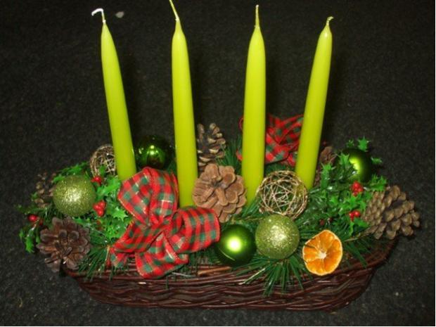 ... adventný košík ..., Vianočné dekorácie