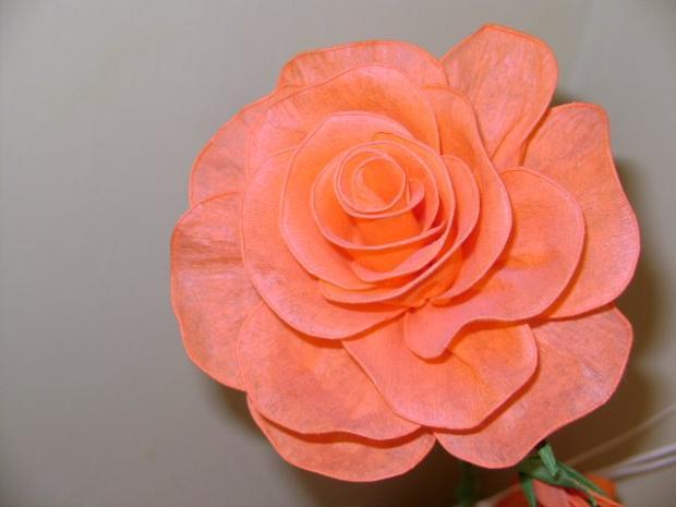 Ruža z krepoveho papiera