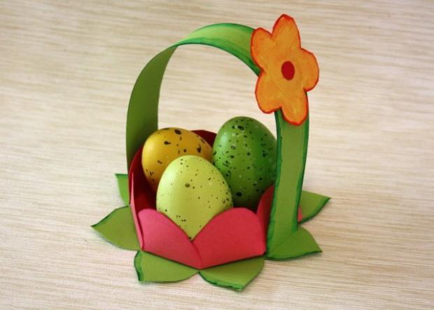 Kvetinkový košíček - foto postup
