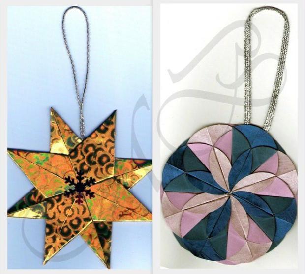 Origami hviezda a kruh, Origami a Kusudama