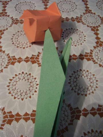 Tulipány z papiera - fotopostup 38