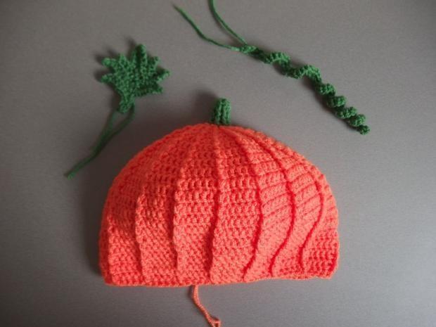 bccd2fc2a59 Háčkovaná tekvicová čiapka pre deti - vhodné aj pre začiatočníkov