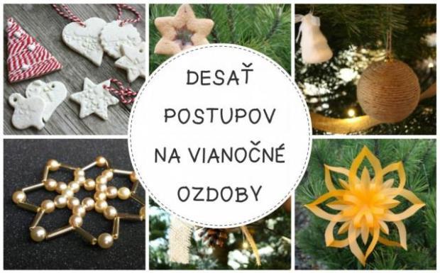 96b2340d6 Desať fotopostupov na originálne ozdoby na vianočný stromček - foto postup