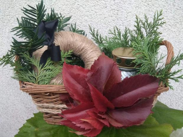 Dušičková ikebana