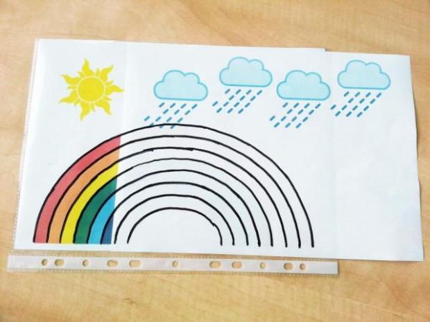 Pohyblivý obrázok - slnko, dúha, dážď | Dzenuska