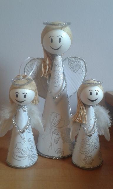 Ako vyrobiť Vianočného Anjela - foto postup