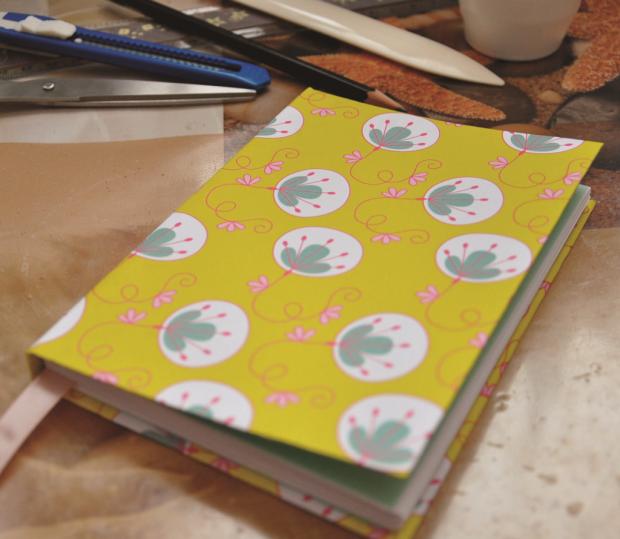 Postup na šitý zápisník - foto postup
