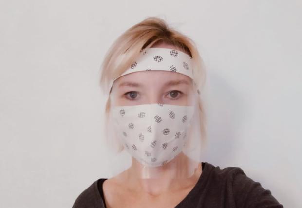 Podomácky vyrobený ochranný štít na tvár
