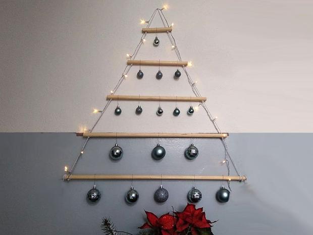 Alternatívny vianočný stromček - foto postup