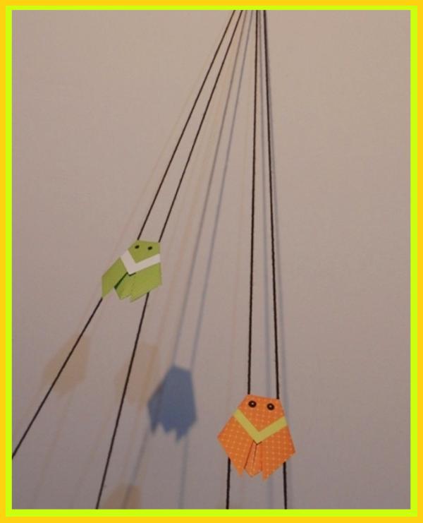 Pohyblivý papierový šváb - návod na hračku - foto postup