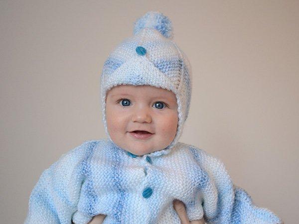 Návod na pletenú čiapočku pre bábätko - foto postup