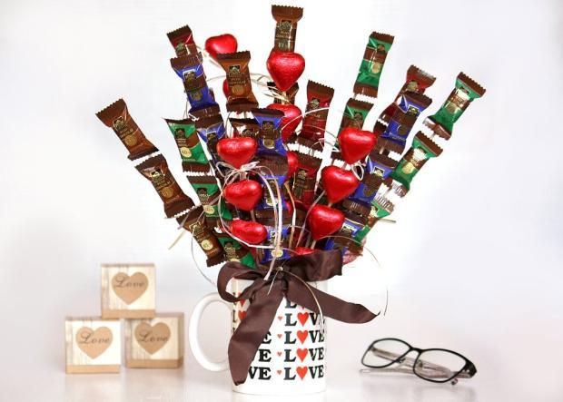 Fotopostup na výrobu čokoládovej kytice
