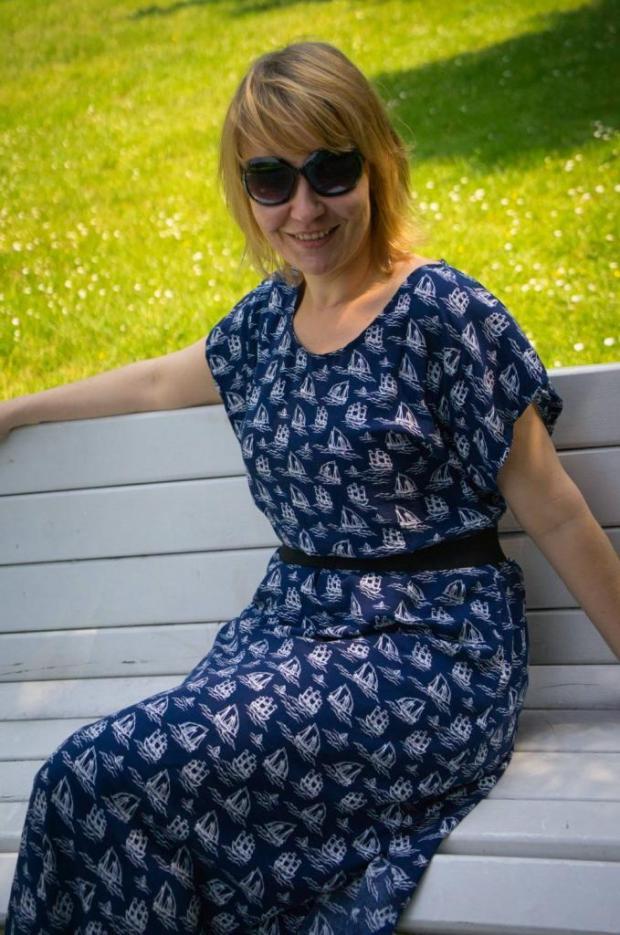 Jednoduché letné maxi šaty bez strihu - foto postup 9439157d38c