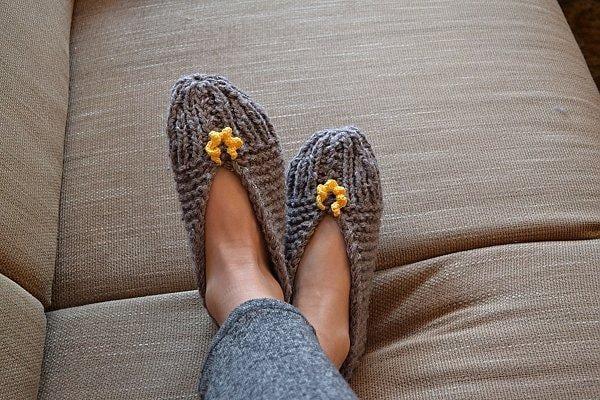 Pletené papuče postup návod