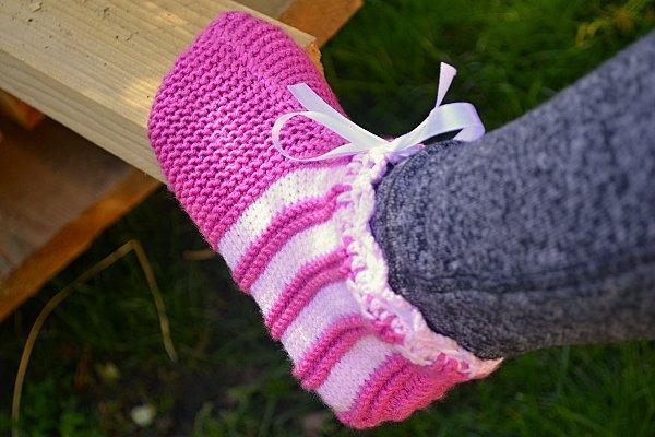 Návod na ponožkové papuče