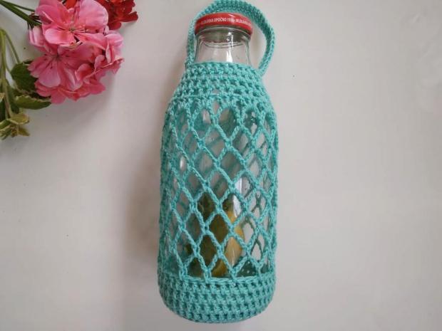 Ako obháčkovať fľašu