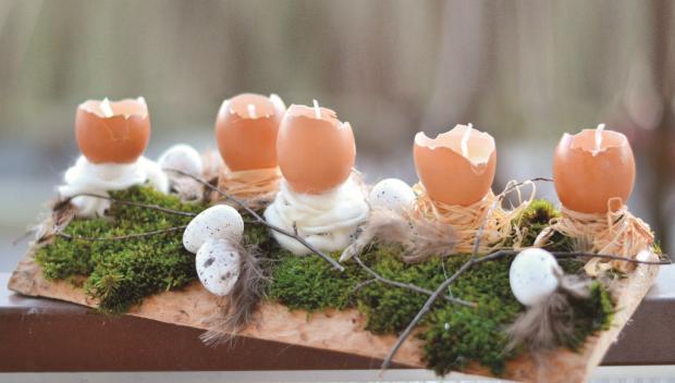 Ako vyrobiť svietnik z vosku a škrupín z vajíčok
