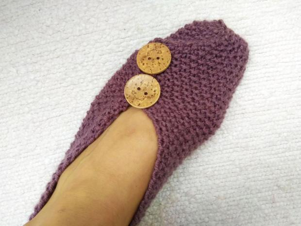 Veľmi jednoduché papuče poskladané z obdĺžnika, postup, návod