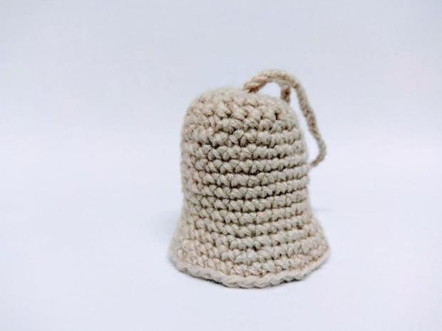 Jednoduchý háčkovaný zvonček - bez škrobenia