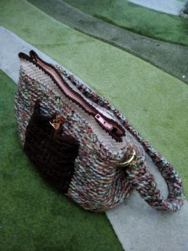 Háčkovaná kabelka pre radosť  - foto postup