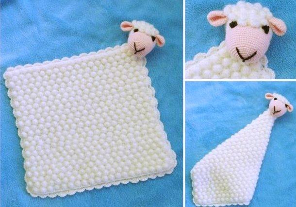 Háčkovaná ovečka - mojkáčik, postup, apple