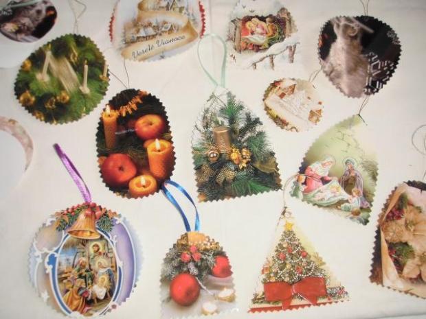 Recyklácia vianočných pozdravov - foto postup