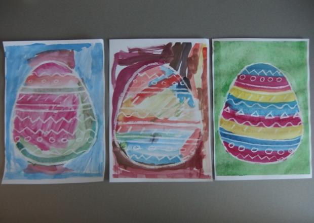 Fantómový obrázok - vajíčko  - foto postup