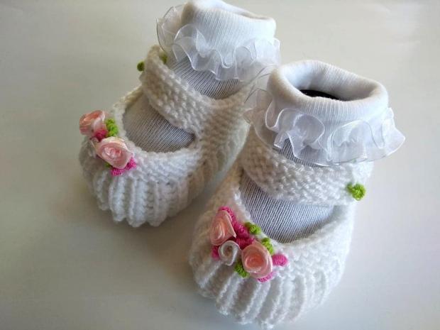 Papučky pre bábätko - foto postup