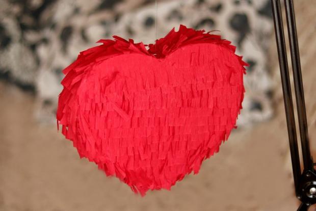 Valentínska piňáta - fotopostup - foto postup