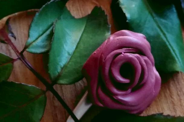 Fotopostup na jednoduchú ružičku z Fimo - foto postup