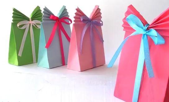 Jednoduchá a efektná taštička na drobný darček -  video - foto postup