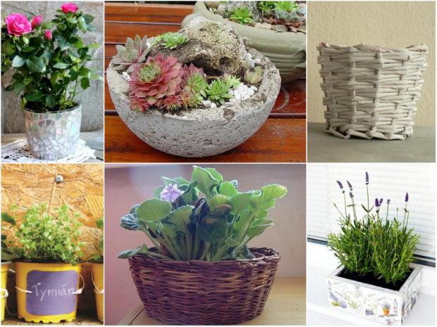 Kvetináče a črepníky: Ako ich vyrobiť, vylepšiť alebo zachrániť? - foto postup