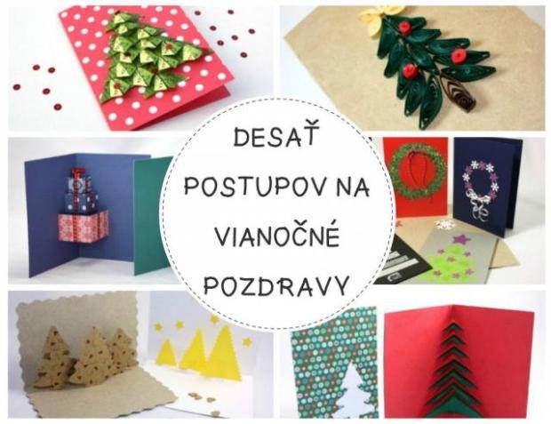 Desať fotopostupov na vianočné pozdravy - foto postup