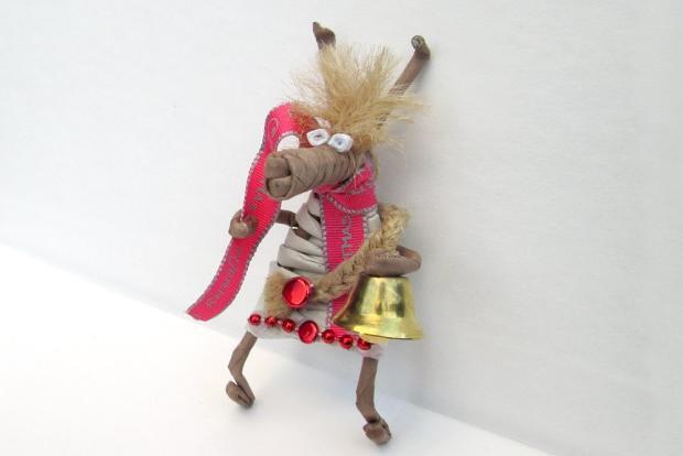 Fotopostup na vianočného maskota z papletu - foto postup