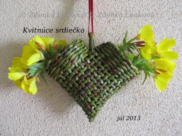 Kvitnúce srdiečko - foto postup