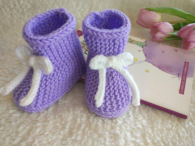 Návod na pletené papučky s jednoduchým strihom