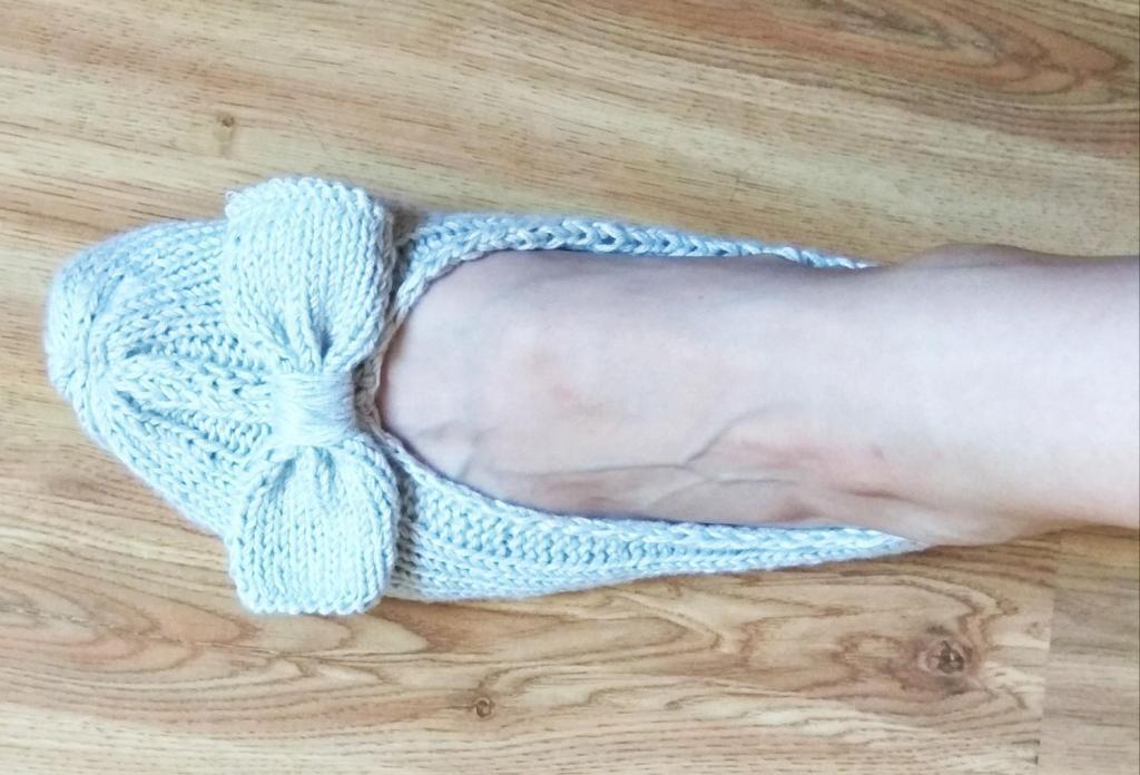 Jednoduché pletené papuče, návod, postup